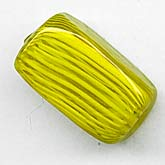 b1-642-Vintage Venetian Clear and Lemon Yellow lampwork rectangles, 18x11mm, sold individually