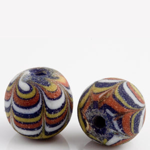 Ancient East Java Pelangi Jatim bead replica 16x18mm average size pkg of 1. b1-681