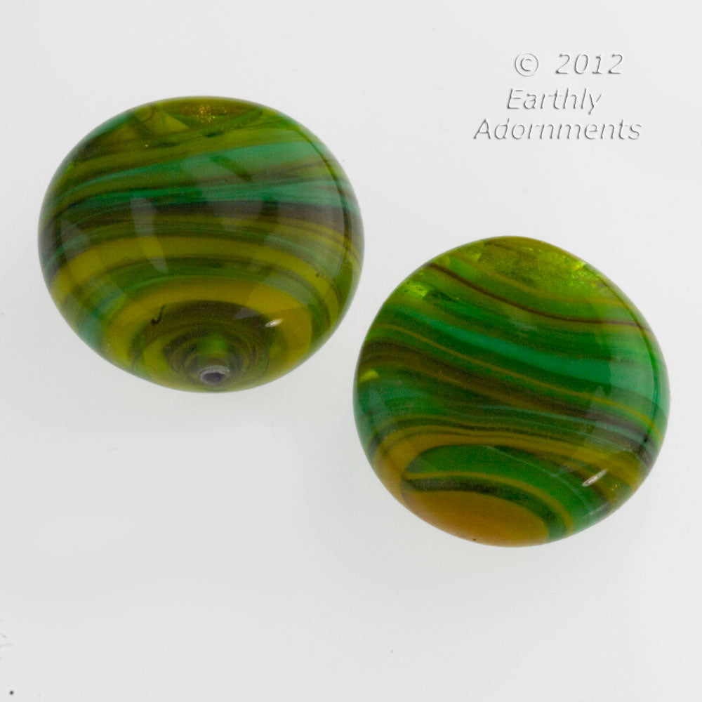 Contemporary lampwork disk made from old German and Italian glass. b1-741