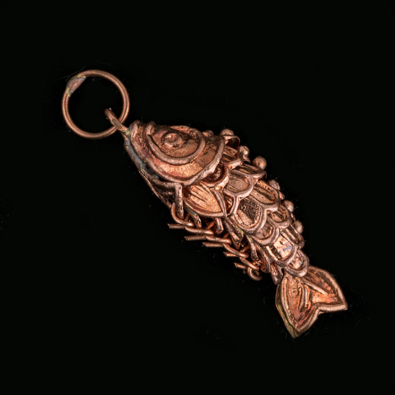 b18-0114-1-articulated copper fish pendant. 1