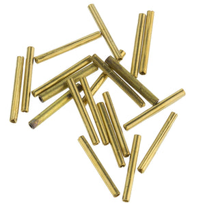 Vintage solid brass bugles. 13mm. Pkg of 50. b18-0200(e)