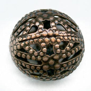 Red brass stamped metal 12mm bead package of 2. b18-0235(e)