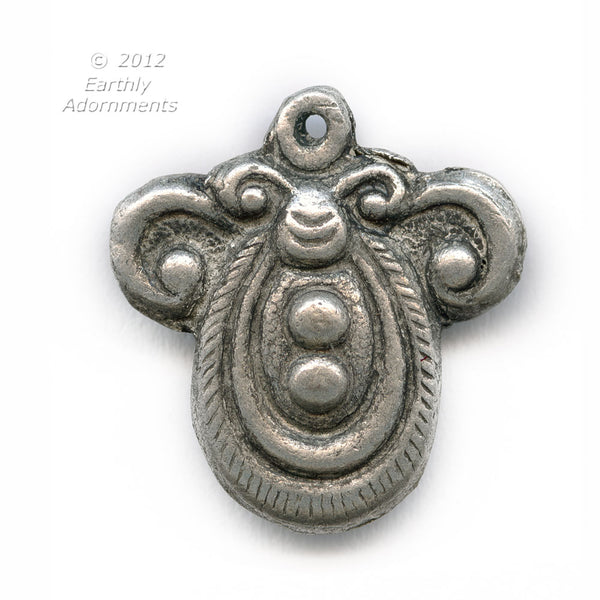 Hollow silver on copper charm 18x20mm, Ching dynasty reproduction