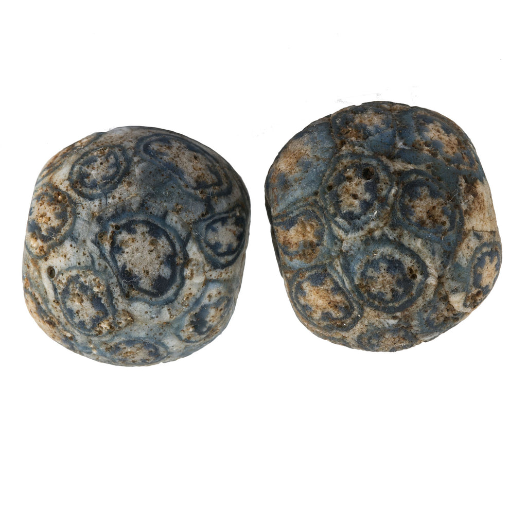 Ancient Indonesian Jatim bead replica.  18mm average size pkg of 1. b1-816