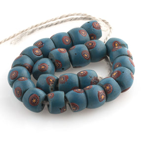 Antique millefiore Venetian matched beads traded in Africa. b1-865cs