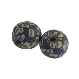 Ancient Indonesian Jatim bead replica.  21mm average size pkg of 1. b1-883