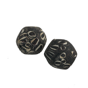 Ancient Mediterranean glass reproduction eye beads. 21mm. Pkg1.  b1-901