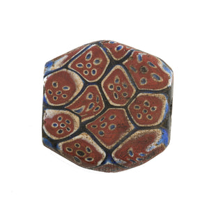 Antique large Venetian tabular murrine millefiore glass bead traded in Africa. b1-910cs