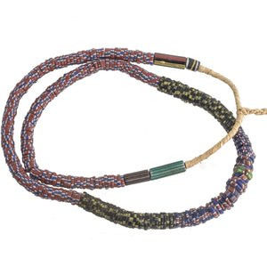19 inch strand of mixed color old Kakamba African trade beads, made in Bohemia. b1-929cs