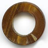 b3-ho16-Vintage horn flat rings, 22x6mm, sold individually