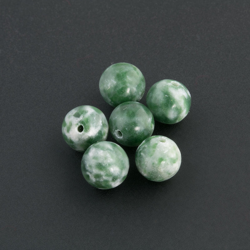 Old stock tree agate rounds. 6mm. Pkg of 6. B4-aga045-2