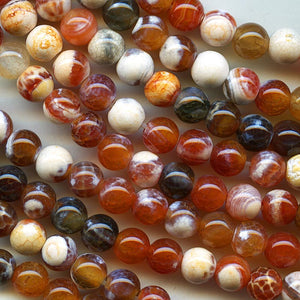 6mm fire agate rounds. b4-aga204