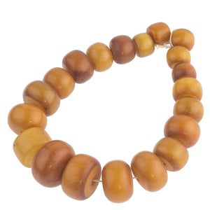Old African Amber Phenolic resin bead strand.  b4-amb092cs