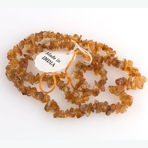 "Vintage old stock citrine chip strand, India. 15 1/2"" strand. b4-cit226"
