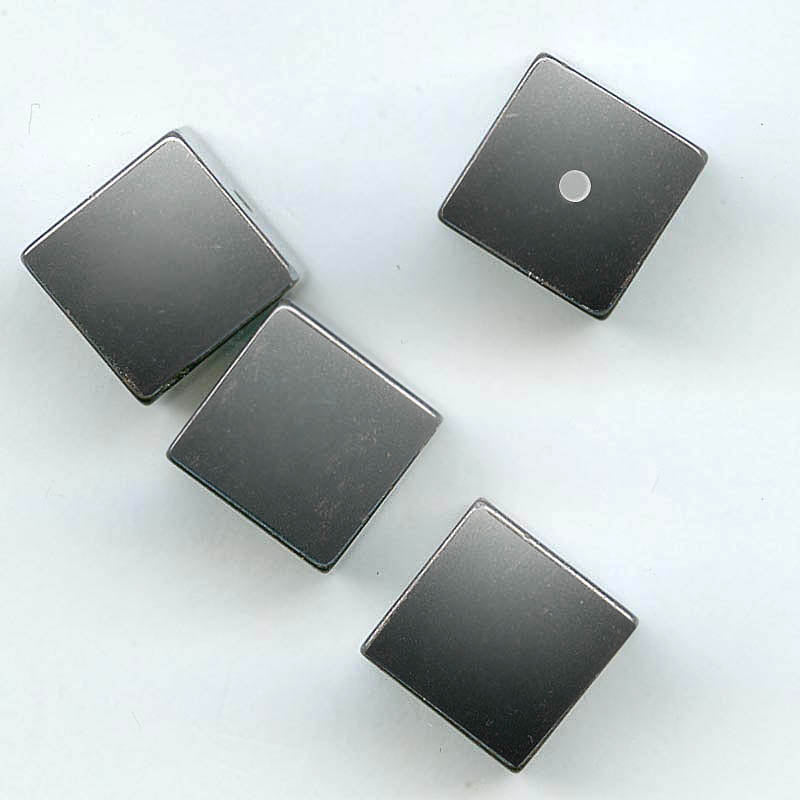 Natural non-magnetic hematite cubes, 10mm pkg of 2. b4-hem182(e)
