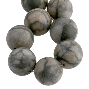 Strand of beautiful vintage African marble beads,. b4-misc106