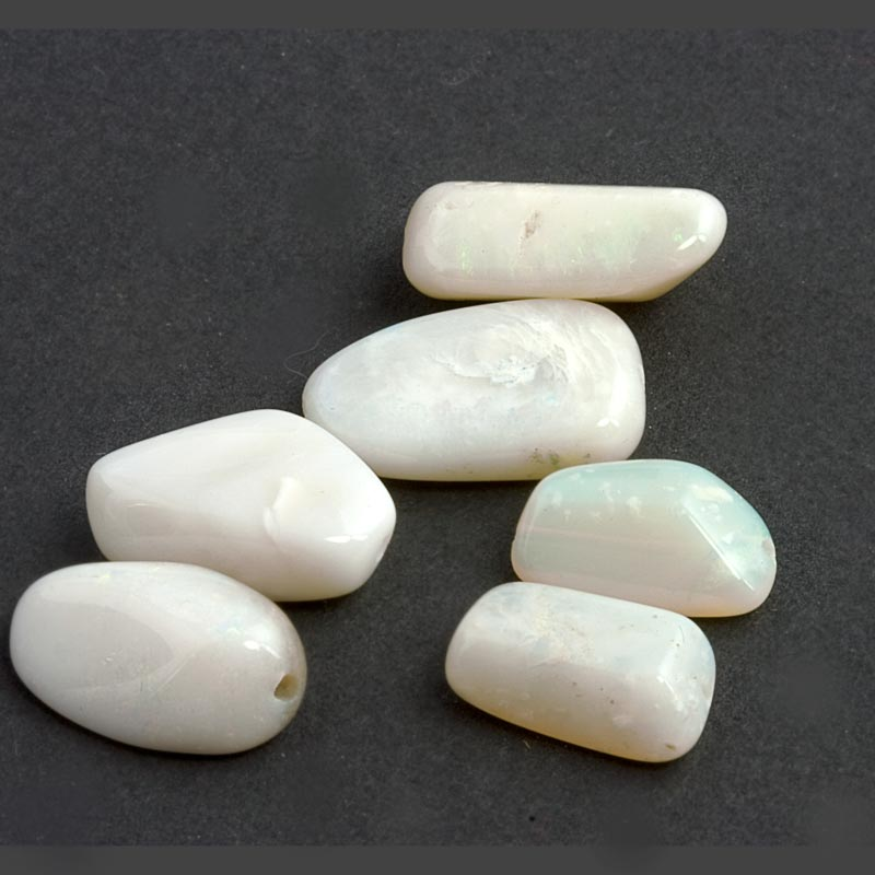 Natural white opal freeform beads 15x10mm average, pkg of 2. b4-opa004