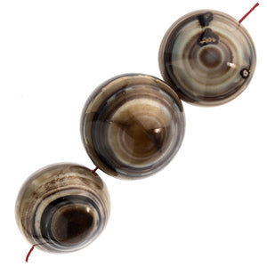 Sardonyx Saucer Shaped Bead. 27-28mm. Pkg of 1. b4-sar180-2(e)