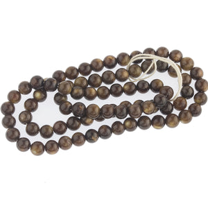 "Vintage Tiger Eye stranded rounds. 5mm. Sold as one 16"" strand. b4-tig200-1"