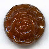 Vintage Japanese molded flower button stones. 15mm. Pkg of 1. b5-523