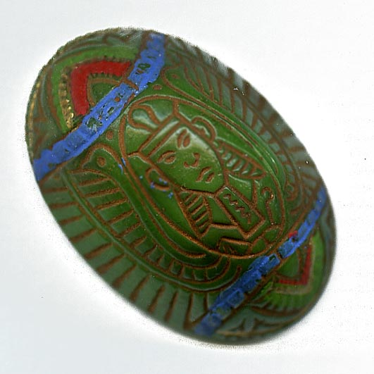 Old Czech high domed Egyptian revival cabochon 24x16mm. Pkg of 1. b5-555