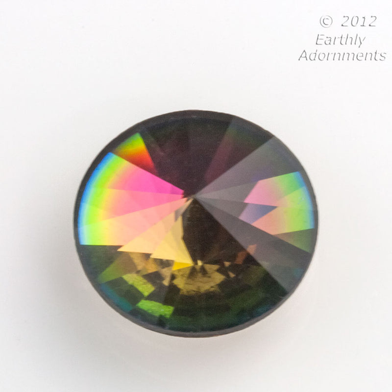 Vintage Swarovski vitrail crystal foil back cabochon. Art. 2006. Sold individually. B5-873