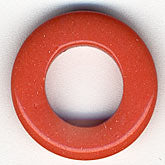 b6-140-Plastic coral donuts. 18mm. Pkg of 10