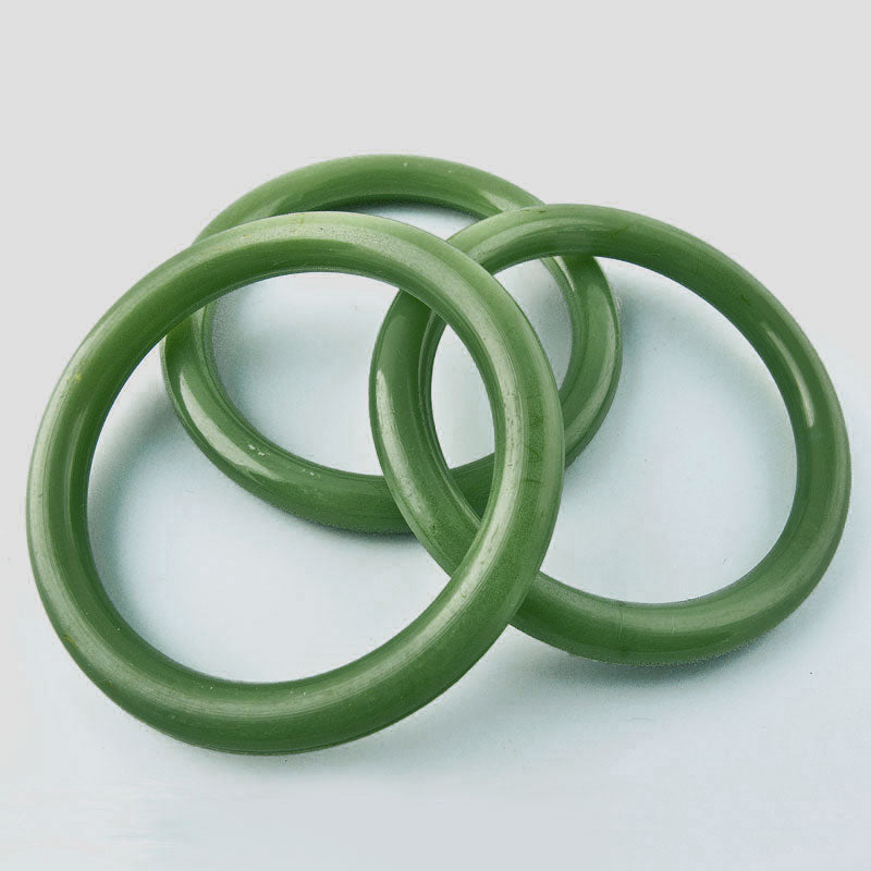 b6-187-1960s vintage green Lucite rings 48mm pkg of 2