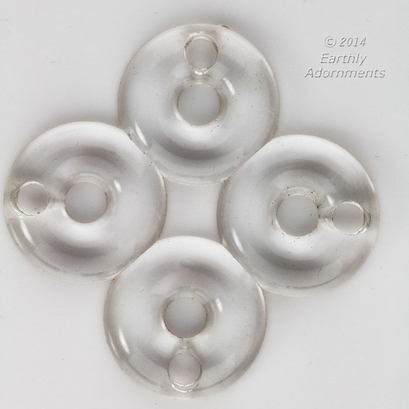 b6-219- Four lucite ring pendant. 46x46. Package of 2.