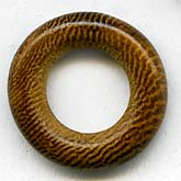 b7-wo242-Vintage palmwood rings, 21mm outer diameter, pkg of 6