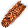 Cicada boxwood Ojime. 12x35mm. Pkg. of 1. b7-wo217(e)
