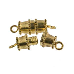 Vintage Barrel Clasp 12K Gold Overlay. 11mm. Pkg of 6.  B8-0001