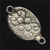Sterling silver filigree clasp, 14x10mm, pkg of 1. b8-0184-2