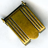 b8-0212-Vintage brass fold over clasp, pkg of 1