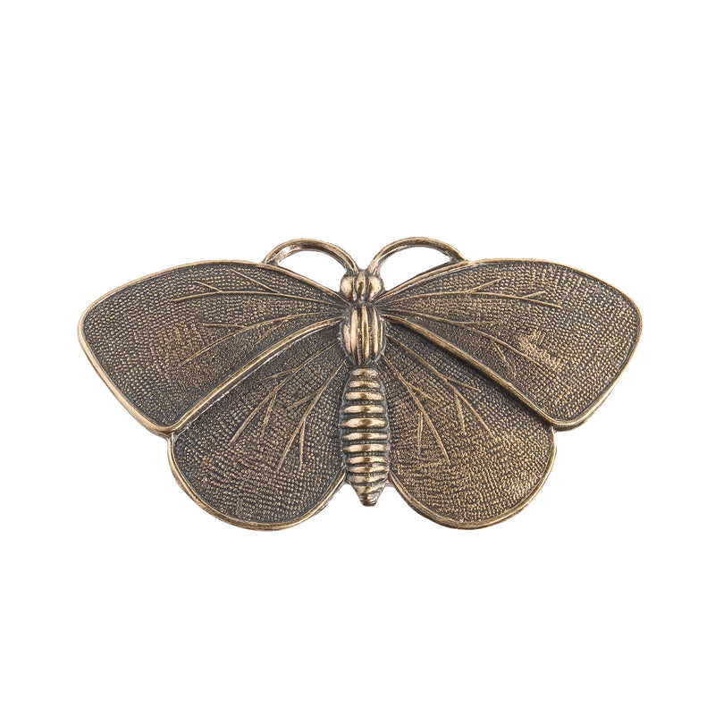 Oxidized brass moth pendant. 52mm wingspan Pkg. of 1. b9-0546(e)