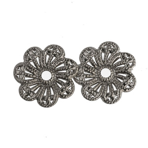 Silver plated filigree disk. Pkg. of 4. b9-0628(e)