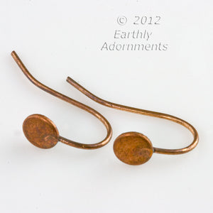 Copper over steel ear wire with stamped oval package of 10. b9-0947(e)