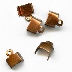 b9-1017-Copper over steel flat chain ends for 6mm flat chain pkg of 6