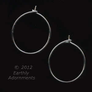 Silver metal earring beading hoops. 20mm. Package of 8. B9-2169(e)