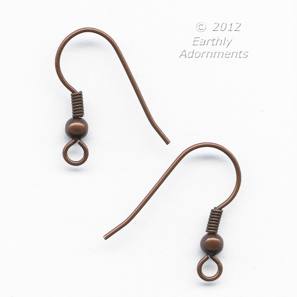 French earwire, 20mm, antique copper finish 20 pcs. b9-2189(e)