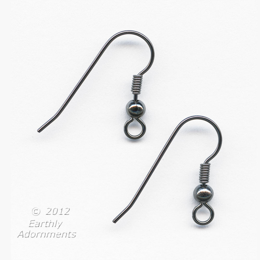 French earwire, 20mm, gunmetal finish 20 pcs b9-2190(e)