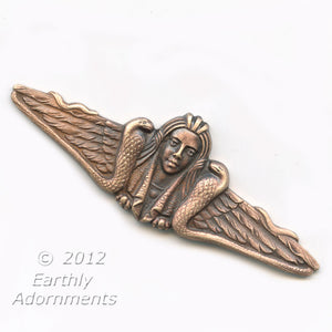 Vintage Egyptian revival red brass stamping. 53x18mm. Sold individually. b9-2195