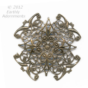 Oxidized brass filigree wrap.48mm. Sold individually. b9-2253