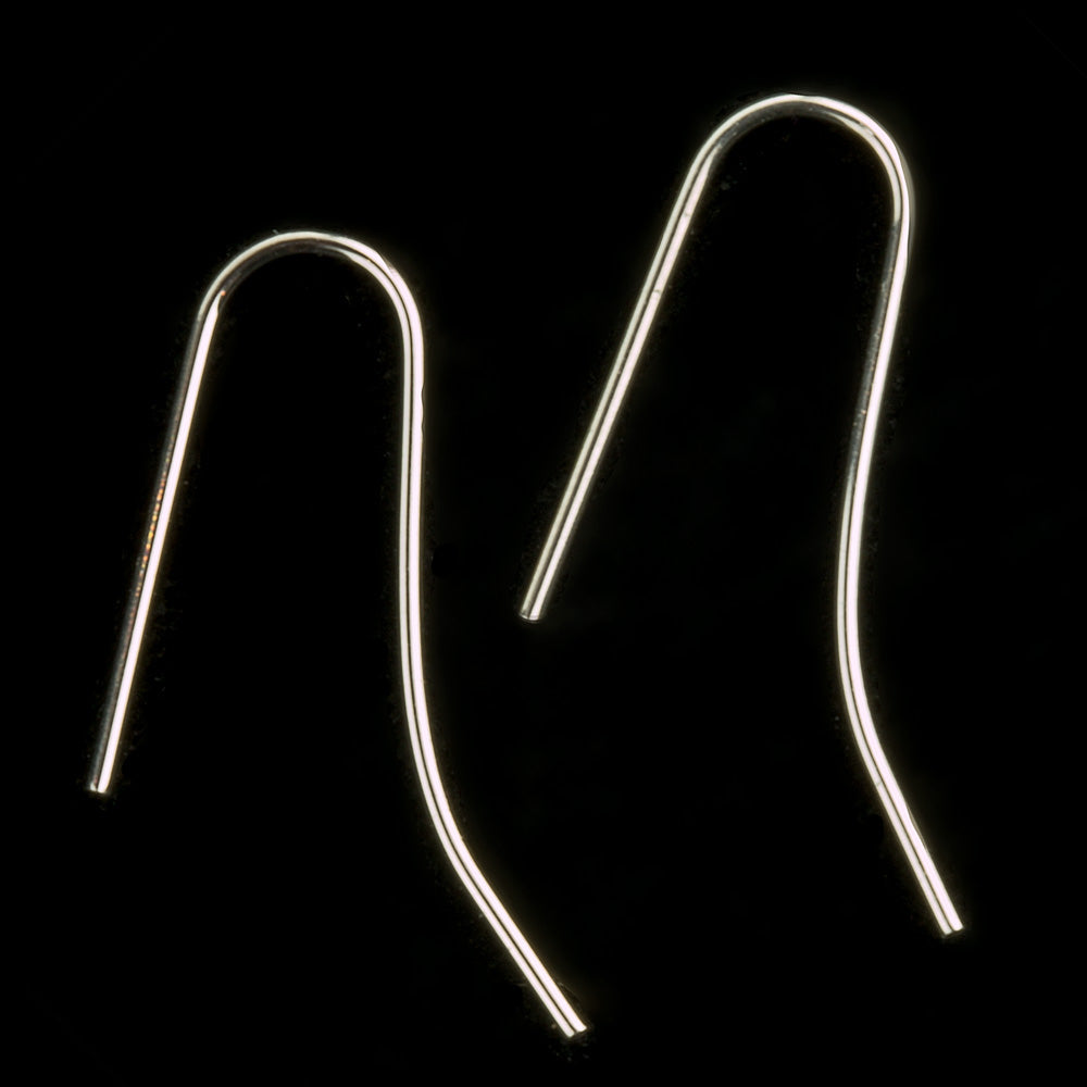 Silver plate ear wire, no loop , long blank. 4 pieces. b9-2400