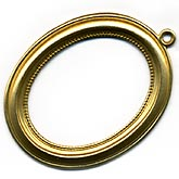 b9-0618-1-Brass pendant open back setting for 25x19mm cabochon. Pkg. of 1