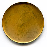 b9-0646c-Vintage brass bezel setting for 30mm cabochon. Pkg of 2