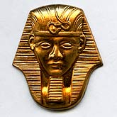 b9-0798-Vintage brass King Tut stampings. Pkg. of 1