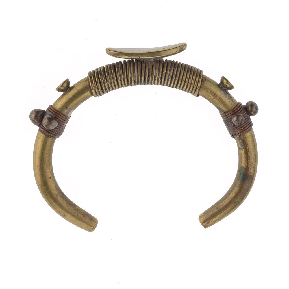 African bronze and copper currency bracelet. bret106cs