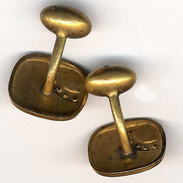 Art Nouveau rolled gold & guilloche enamel cufflinks. BTVC233