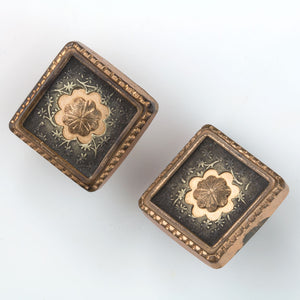 Antique Victorian gilt brass and steel button studs or cufflinks. btvc800